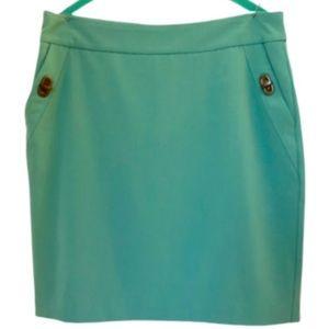Worthington seafoam green straight skirt